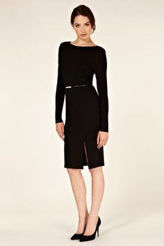Oasis Pencil Split Dress.  Great with a little jacket?