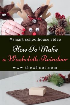 Reindeer Washcloth Craft Christmas Gift Idea Video Tutorial interesting christmas gifts, christmas presents for grandpa, holiday gifts ideas Washcloth Craft Christmas Gift Idea Video Tutorial Christmas Presents To Make, Christmas Soap, Christmas Crafts For Kids To Make, Handmade Christmas Gifts, Perfect Christmas Gifts, Homemade Christmas, Christmas Projects, Christmas Fun, Holiday Crafts