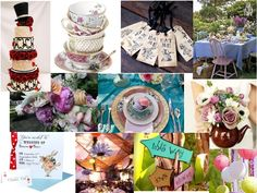 Inspiration Board #17 (The tags, invites, teacups, lanterns and signs)