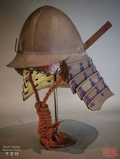 Warrior Helmet, Samurai Armor, Rising Sun, Wabi Sabi, Riding Helmets, Biker, Character Design, Japanese, Rock