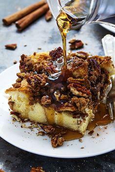 Overnight Cinnamon Pecan French Toast Casserole | Creme de la Crumb