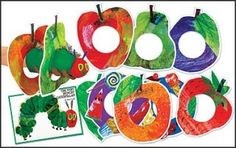Another book I like to use is La oruga muy hambrienta ( The Very Hungry Caterpillar ) by Eric Carle. Using this book, you can cover the da. Eric Carle, The Very Hungry Caterpillar Activities, Sock Puppets, Puppet Crafts, Early Literacy, Chenille, Learning Spanish, Book Activities, Early Childhood