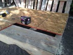 A few clean pallets and scrap lumber was all we needed to build an open floor plan playhouse