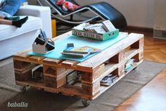 mi nueva mesa de centro de palets europeos deco, quiero una casa pinterest - Baballa