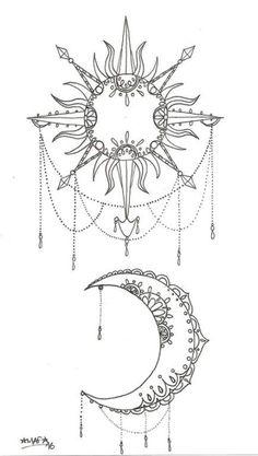 35 Ideas tattoo moon sun mandala coloring pages 35 Ideas tattoo moon su… 35 Malvorlagen Ideen Tattoo Mond Sonne. Moon Sun Tattoo, Sun Tattoos, Nature Tattoos, Body Art Tattoos, Sun Moon, Sun And Moon Tattos, Tattoo Drawings, Woman Tattoos, Couple Tattoos