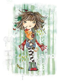 PupeilustraEstampas Ruabel - Pupeilustra Cute Girls, Little Girls, Cute Illustration, Loving U, Kids Fashion, Digital Art, Backgrounds, 1, Girly