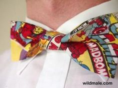 Men's Pre-tied Marvel Superhero Comics Bow Tie, Adjustable Clip On Tie Fashion Accessory - http://wildmale.com/mens-pre-tied-marvel-superhero-comics-bow-tie-adjustable-clip-on-tie-fashion-accessory