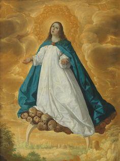 Francisco Zurbarán (1598-1664), The Immaculate Conception. Oil on canvas, 101.2 x 77.3 cm. 1625 - 1630. Madrid, Museo Nacional del Prado.