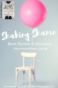 Does the weight of shame seem to linger around your soul leaving a heavy weight upon your shoulders? Do you know about God's forgiveness yet have a difficult time receiving it? Do you want to live without that shame? Set apart? Sanctified? Shaking Shame #LiveFullWalkFree Review and Book Giveaway - Lori Schumaker