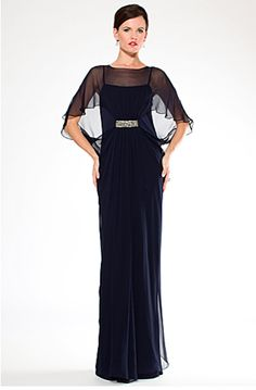 $495 Mother of the Bride Ruffled Taffeta One Shoulder Chiffon Gown ...