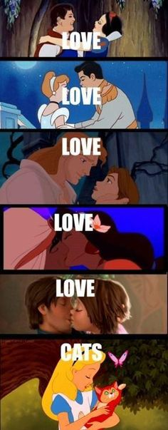 Disney characters and their loves