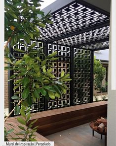 Patio pergola decorative laser cut screens add shade, privacy and style. Patio pergola decorative laser cut screens add shade, privacy and style. This is QAQ's 'Babylon' design.