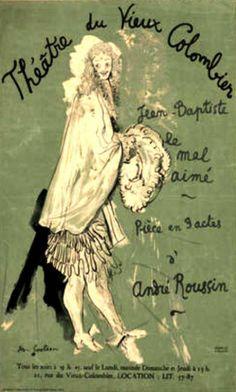 Jean Cocteau. Théâtre du Vieux Colombier. Jean Baptiste, Le Mal Aimé 1948