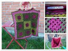crochet bag...love the colors!
