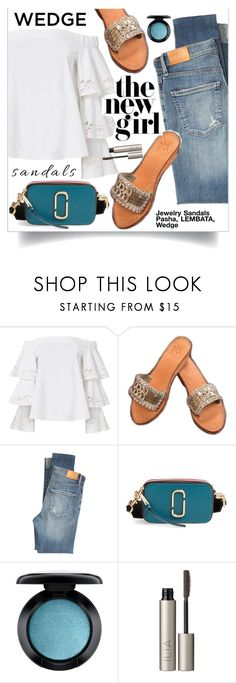 """""""Pasha Lembata Sandals"""" by gorgeousjewelryshoes ❤ liked on Polyvore featuring Exclusive for Intermix, Citizens of Humanity, Marc Jacobs, MAC Cosmetics, Ilia, jeans, pasha, jewelrysandals and pashasandals"""