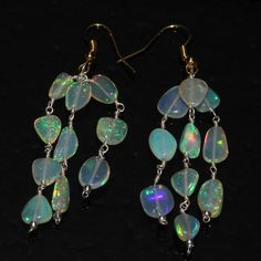 NATURAL ETHIOPIAN WELO OPAL TUMBLE EARRINGS PAIR 2