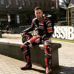 A collection of Guys In Sport Biker Leathers Biker Gear, Biker Boots, Nike Gloves, Mens Leather Pants, Bike Leathers, Motorcycle Suit, Riders On The Storm, Bike Accessories, Sport Bikes