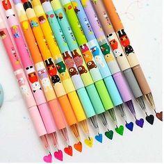 12x-Kawaii-Animal-colorido-Tinta-Gel-Pen-Papeleria-Escolar-proveedor-Scrapbook-Deco