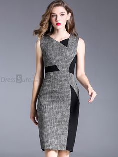 Buy Brief Irregular Neck Hit Color Sleeveless Bodycon Dress with High Quality an. - Outfits for Work - Buy Brief Irregular Neck Hit Color Sleeveless Bodycon Dress with High Quality an. Elegant Dresses, Casual Dresses, Dresses Dresses, Bandage Dresses, Hippie Dresses, Ladies Dress Design, Buy Dress, Women's Fashion Dresses, Dress Patterns