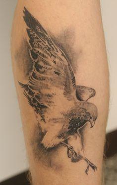 Black And Grey Flying Falcon Tattoo Design For Arm Hulk Tattoo, Arm Tattoo, Ankle Tattoos, Sweet Tattoos, Tattoos For Guys, Cool Tattoos, Bird Tattoos, Tatoos, Tattoo Arm Designs