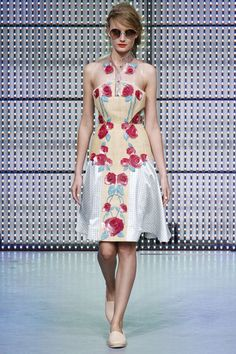 Holly Fulton: love the fit and flare/drop waist silhouette. She has amazing engineered prints