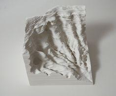 Niriko Ambe - A Piece of Flat Globe. c2010, Cuts on paper.