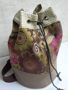 SLING BAG BACKPACK Boho Barrel Sling Bag by WhimsyEyeDesigns