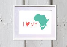 Dachshund poster  I love my dachshund map of africa by JAQUELINEB, $19.00