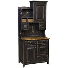 A variety of cabinets and shelves lend organizational appeal to the Chelsea Home Furniture Little Annies Buffet with Hutch . This sturdy pine hutch. White Dining Room Furniture, Hutch Furniture, Country Furniture, Kitchen Furniture, Luxury Furniture, Interior Design Living Room, Cool Furniture, Pine Furniture, Amish Furniture