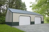 Ulrich Barns offers high quality custom buildings in Texas. We have a complete custom divison that offers on-site-built, customized garages and horse barns. Wooden Garages, Metal Garages, Two Story Garage, Roof Types, Metal Structure, Raised Panel, Custom Metal, Horse Barns, Entry Doors
