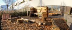 De tuin van onze locatie Amstelveen, in het Ziekenhuis Amstelland. De buitenkeuken is gemaakt door twee van onze medewerkers.