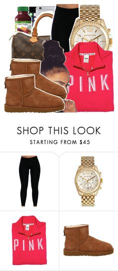 """""""☮"""" by ayeeitsdessa ❤ liked on Polyvore featuring Michael Kors, Victoria's Secret PINK and UGG Australia"""