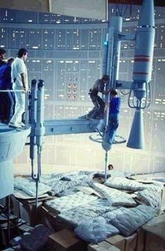 110+ photos rares du tournage de Star Wars photo tournage rare star wars 70