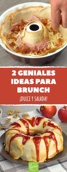 2 geniale Brunch-Ideen - New Ideas Snacks Für Party, Easy Snacks, Healthy Snacks, Easy Meals, Toast Pizza, Lunch Boxe, Snacks Under 100 Calories, Breakfast Toast, French Toast Casserole