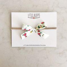 Fabric Bow Liberty of London nylon by LittleBloomsHandmade