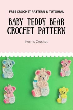 This baby teddy is part of the Teddy Bears Picnic Baby Blanket. The free pattern