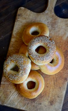 The perfect recipe for artisan sourdough bagels!