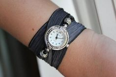 Silk Ribbon Wrap Watch - 18 Great Ribbon Colors to Choose From - Boho Chic Jewelry
