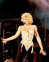 Jean Paul Gaultier - design behind Madonna's iconic cone-bra outfits first seen on the Blonde Ambition Tour in 1990.