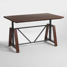 World Market- Wood Braylen Adjustable Height Work Table - v1- $299.99 (Sale- $249.99 plus Free Shipping)