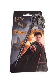 Harry Potter Dumbledore's Wand Metal Key Ring Keychain With Clip New in Pkg #Monogram