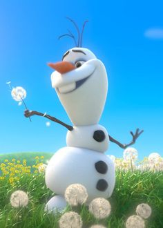 """...and I'll be doing whatever snow does in summer."" - Olaf, Frozen"