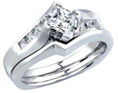 Only You® Princess Diamond Bridal Set, Princess Cut Engagement Rings, Bridal Sets, Wedding Bands, Wedding Stuff, Love Story, Wedding Planner, Jewels, Emeralds, Infinity