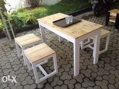 set meja cafe sederhana