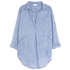 CP Shades Teton Chambray Shirt Dress (2.865.820 IDR) ❤ liked on Polyvore