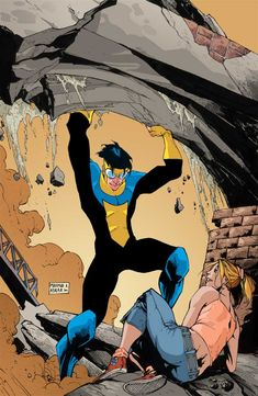 Invincible - I loved this comic series, written by Kirkman! Comic Book Pages, Comic Book Characters, Comic Character, Comic Books Art, Character Concept, Hq Marvel, Marvel Comics, Invincible Comic, Image Hero