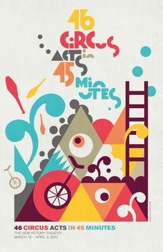 Fun and whimsical Circus poster! Love the graphic design + layout.