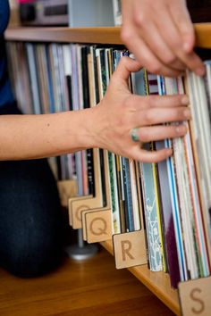 Alphabetize Your Record Collection With These Laser Cut Wood Dividers