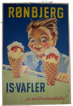 Isskilte Old Posters, Vintage Posters, Danish Language, Retro Vintage, Nostalgia, Pin Up, The Past, Advertising, Miniatures