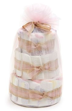 The Honest Company Mini Diaper Cake available at #Nordstrom so cute diaper cake